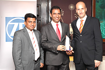 Devshi won the sole ZF Achievers Award from India for 2012